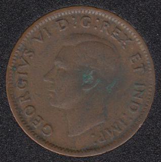 1943 - Break A to Rim & S to Rim - Canada Cent