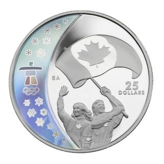 2007 Canada $25 Dollars Sterling Silver - Athletes Pride - Vancouver 2010