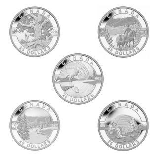 2014 - $25 - Fine Silver 5-Coins Set - O Canada Series