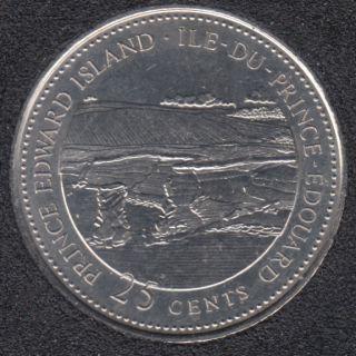 1992 - #7 B.Unc - Ile du Prince Edouard - Canada 25 Cents