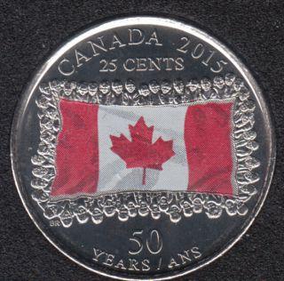 2015 - B.Unc - Flag Col. - Canada 25 Cents