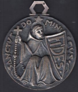 Sanctus Dominicus Fides - Médaille Rare Graveur Français Fernand Py