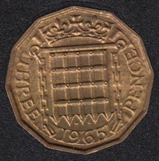 1965 - 3 Pence - B.Unc - Grande Bretagne