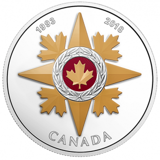 2018 - $20 - 1 oz. Silver Coloured Coin - Canadian Honours: 25th of the Star of Military Valour
