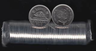 2013 Canada 5 Cents - 40 Coins Roll - B.UNC