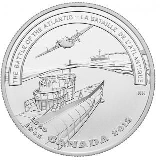 2018 - $20 - 1 oz. Pure Silver Coin - Second World War Battlefront: The Battle of the Atlantic