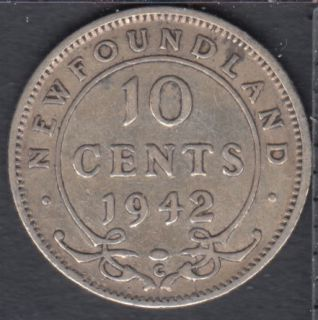 Terre Neuve - 1942 C - 10 Cents