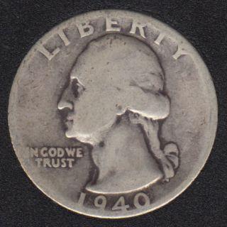 1940 - Washington - 25 Cents