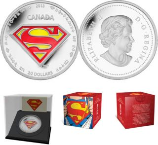 2013 - 1 oz $20 Fine Silver Coin - Superman™'s S-shield