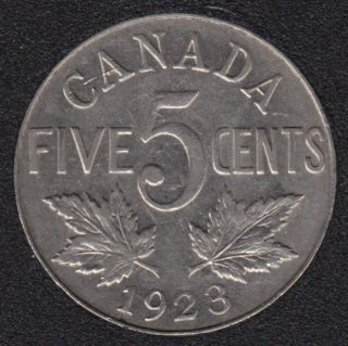 1923 - VF - Canada 5 Cents