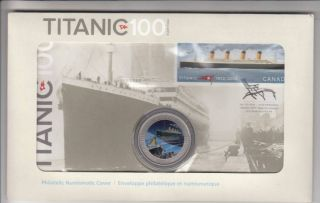 2012 Canada R.M.S. Titanic 25 Cents Philatelic Numismatic Cover - Coin and Stamp