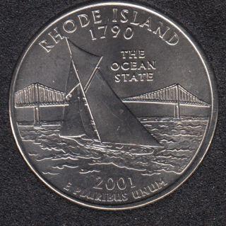 2001 D - Rhode Island - 25 Cents