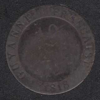 1818 A - 10 Centimes - Guiana Colonie - France