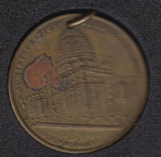 1893 - Chicago World Exposition Medaillon with Photo Inside