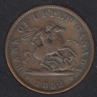 P.C. 1852 Bank of Upper Canada Penny PC-6B2