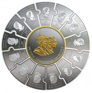 2018 - Pure Silver Puzzle Coin Set - Connecting Canadian History (1866-1916)