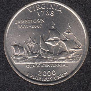 2000 D - B.Unc - Virginia - 25 Cents