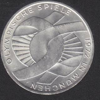 1972 D - D Olym. Munich - 10 Mark - Silver