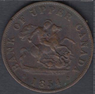 P.C. 1854 Bank of Upper Canada Half Penny - VF - PC-5C1
