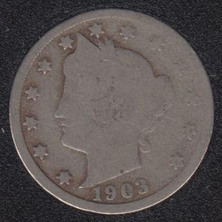1903 - Liberty Head - 5 Cents