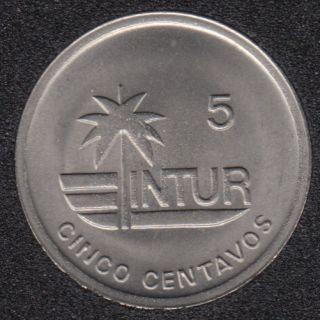 1989 - 5 Centavos - Visiteur - Cuba