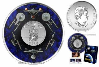 2016 - 25¢ - Star TrekTM - Coin and Stamp Set – U.S.S. Enterprise