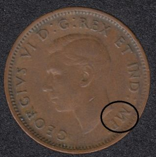 1945 - Break Bust to M to Rim - Canada Cent