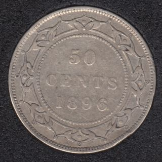 Terre Neuve - 1896 - OBV 1 - Fine - 50 Cents