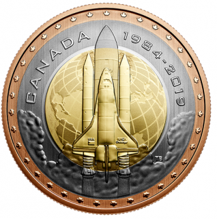 2019 - 25¢ - Premier Canadien dans l'espace