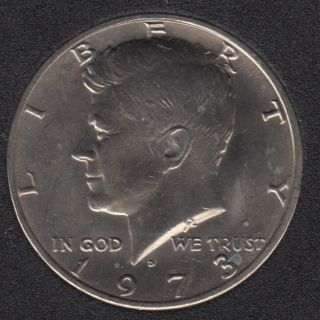 1973 D - Kennedy - 50 Cents