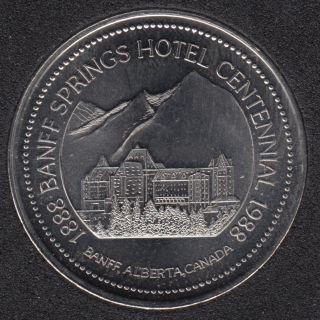 1988 1888 - Banff Springs Hotel Centennial - Mount Rundle - $1