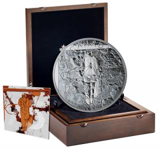 2019 - $125 - Pièce de 1/2 kilogramme en argent pur - 75e anniversaire de la campagne de Normandie : Opération Tonga