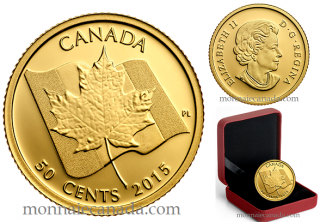 2015 - 50 Cents - 1/25 oz. Pure Gold Coin - Maple Leaf