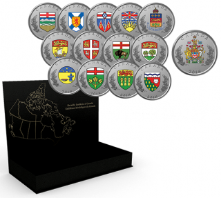 2018 - Pure Silver 14-Coin Set - Heraldic Emblems of Canada