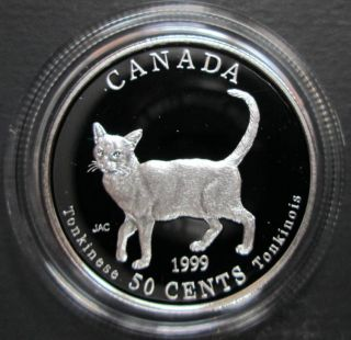 1999 Canada 50 Cents Sterling Silver - Tonkinese - Cats of Canada