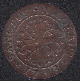 1793 - 2 Kreuzer - Swiss canton Freiburg - VF - Suisse