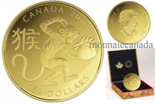 2016 - $150 - 18-karat Gold Coin – Year of the Monkey