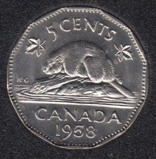 1958 - B.Unc - Canada 5 Cents