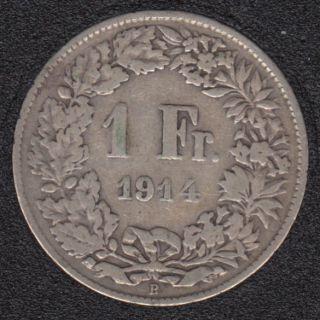 1914 B - 1 Franc - Suisse