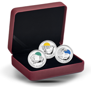 2011 - 25 Cents - Sterling Silver Coin Set - Our Legendary Nature