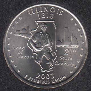 2003 P - Illinois - 25 Cents