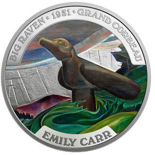 2018 - $50 - 5 oz. Pure Silver Coin - Famous Canadian Art: Emily Carr
