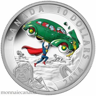 2014 - $10 - 1/2 oz. Fine Silver - Iconic Superman™ Comic Book Covers: Action Comics #1 from 1938