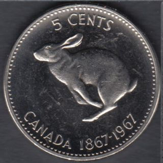 1967 - Canada 5 Cents