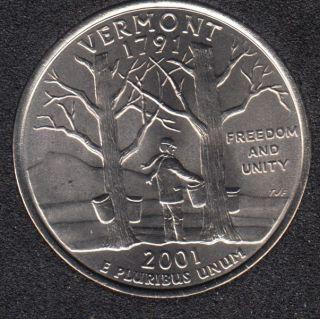 2001 D - B.Unc - Vermont - 25 Cents