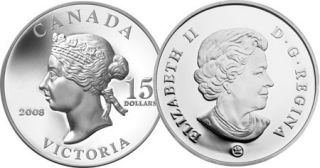 2008 - $15 - Sterling Silver Coin – Queen Victoria