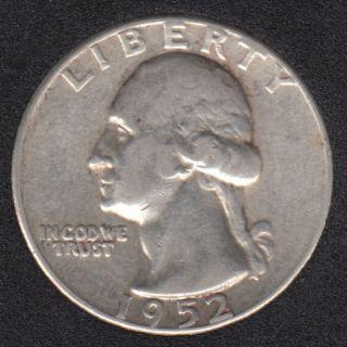 1952 - Washington - 25 Cents