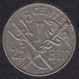 1905 - 5 Cent 25 Bit - Danish West Indies