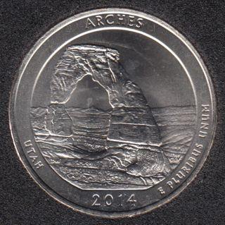 2014 P - Arches - 25 Cents