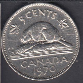 1970 - Circuler - Canada 5 Cents